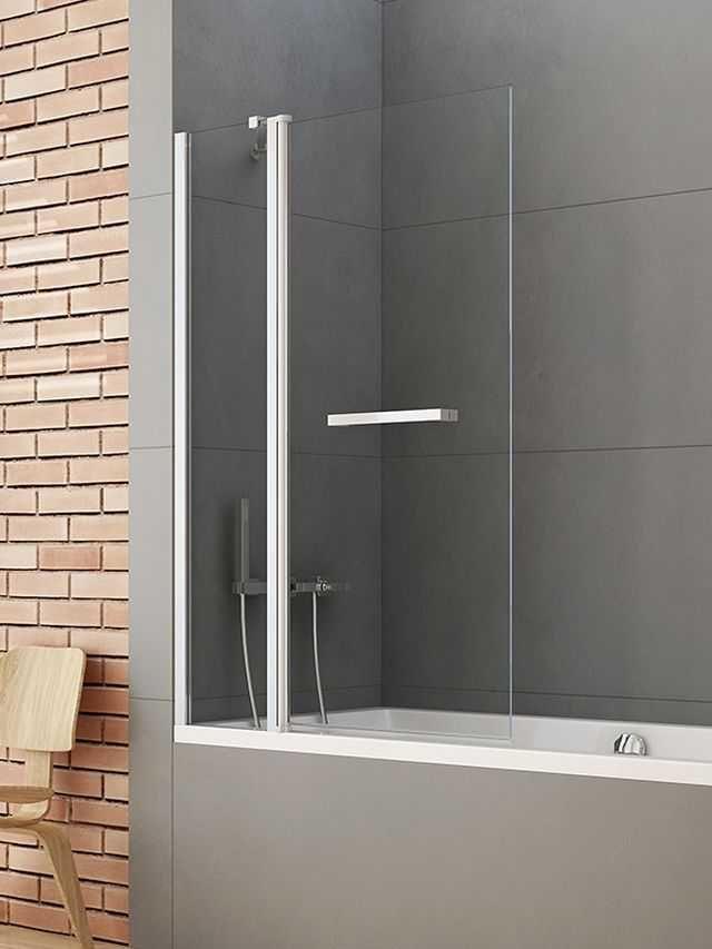 New Trendy parawan nawannowy New Soleo 120 cm, wys. 140 cm, szkło czyste 6 mm P-0027