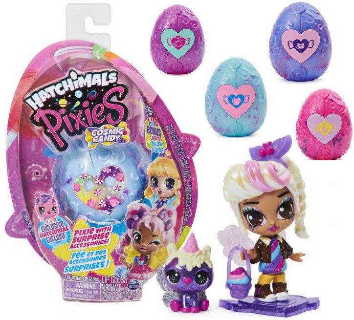 Hatchimals Pixies - Cosmic Candy Laleczka w filetowym jajku 20123453