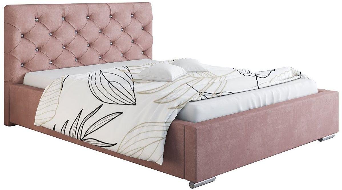 Pikowane łóżko dwuosobowe 180x200 Loran 3X - 48 kolorów