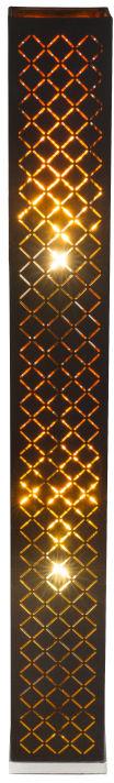Globo CLARKE 15229S2 lampa podłogowa czarno -złoty z dekorem 2xE27 40W 118cm
