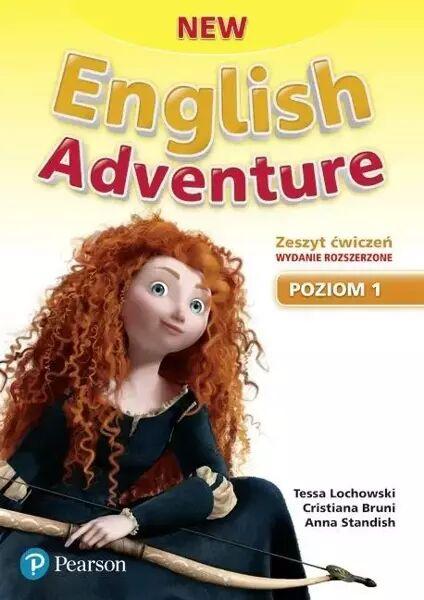 New English Adventure PL 1 AB + DVD (materiał ćwiczeniowy) wydanie rozszerzone - Tessa Lochowski, Cristiana Bruni
