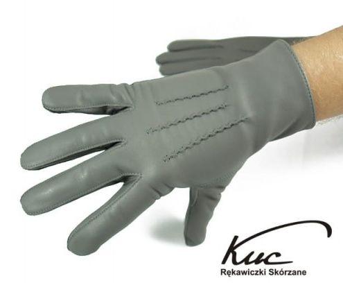 Klasyczne męskie rękawiczki nieocieplane - skóra naturalna jagnięca