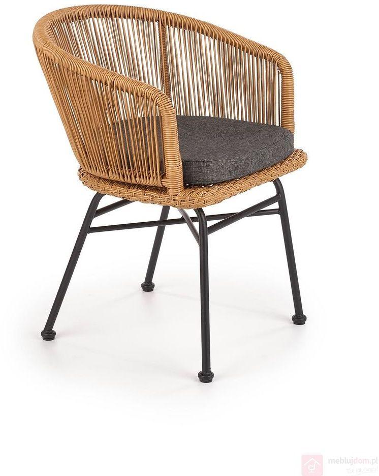 KUPON 10% NA STRONIE  Krzesło ratanowe K-400 Halmar Naturalny [Wysyłka 2021-03-02]