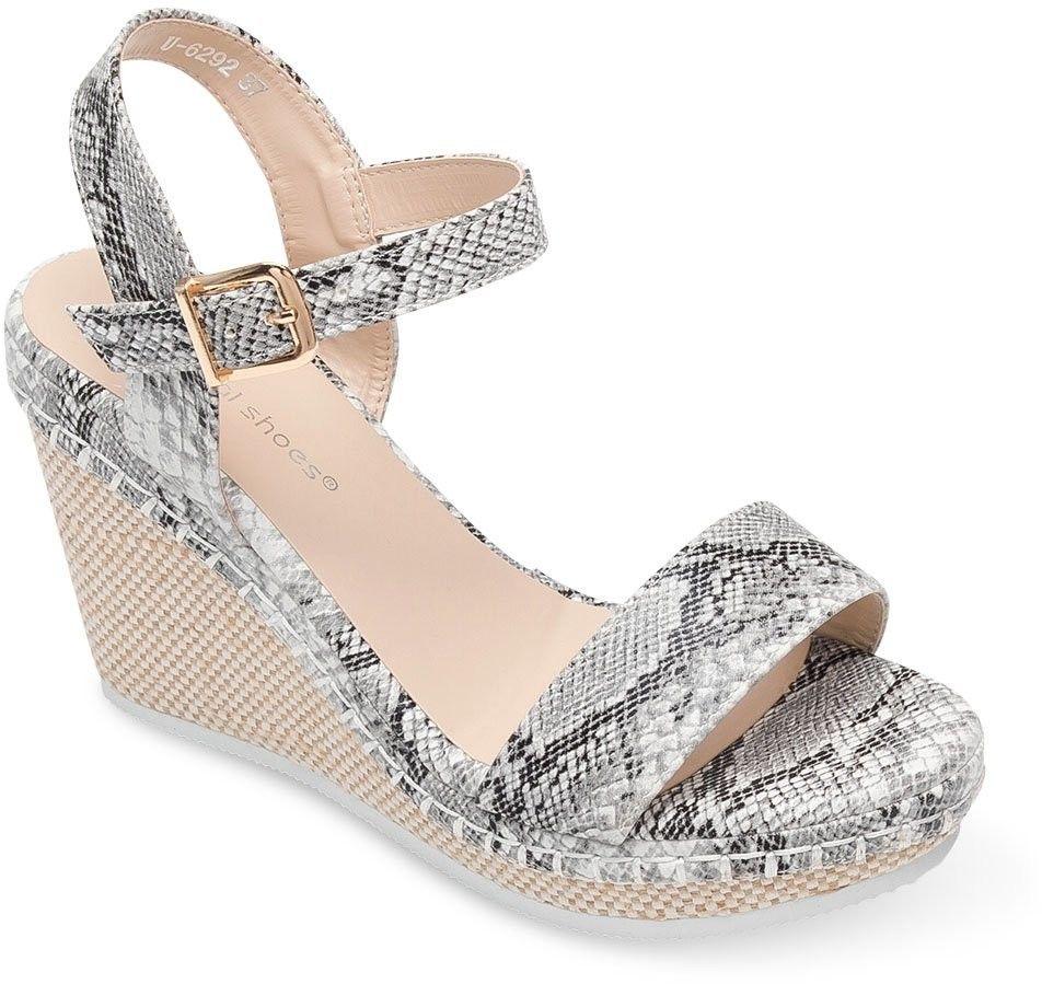 Sandałki damskie Ideal Shoes U-6292 Skóra Węża