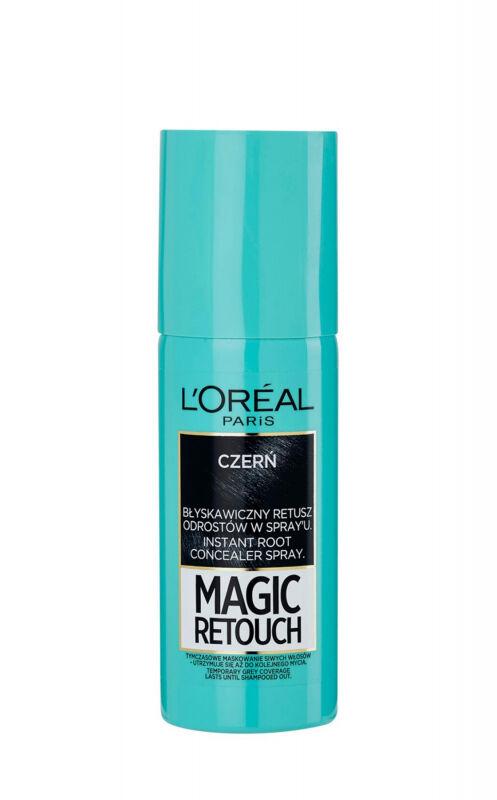 L''Oréal - MAGIC RETOUCH - Spray do błyskawicznego retuszu odrostów - CZERŃ