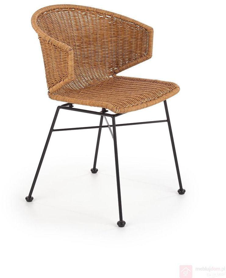 KUPON 10% NA STRONIE  Krzesło ratanowe K-407 Halmar Naturalny [Wysyłka 2021-04-20]