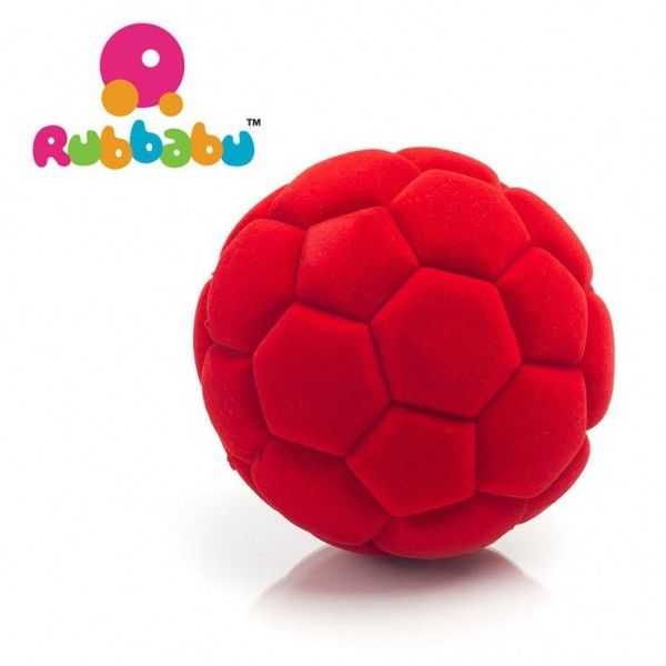 Rubbabu - Sensoryczna Piłeczka Sportowa Czerwona