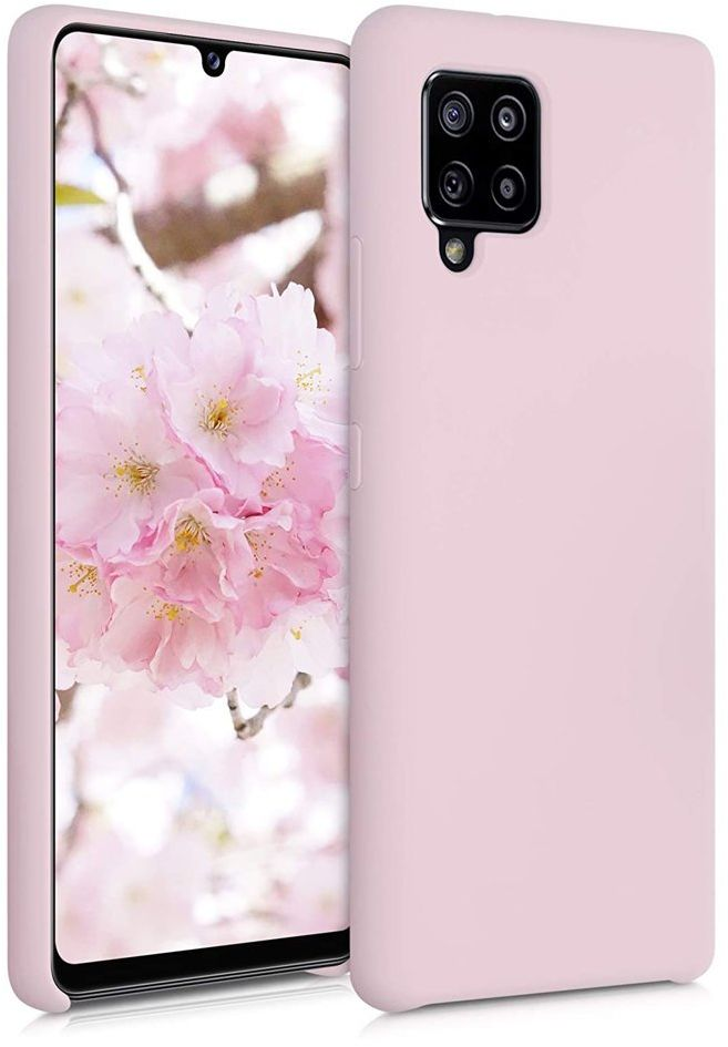 Silicone Case elastyczne silikonowe etui pokrowiec Samsung Galaxy A42 5G różowy