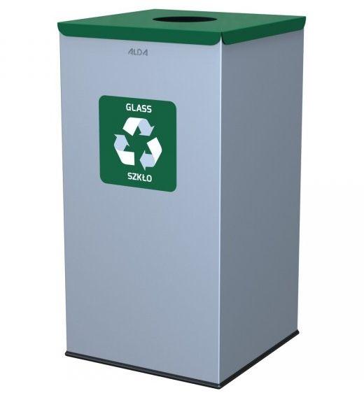 Kosz do segregacji odpadów EKO SQUARE 90L szkło