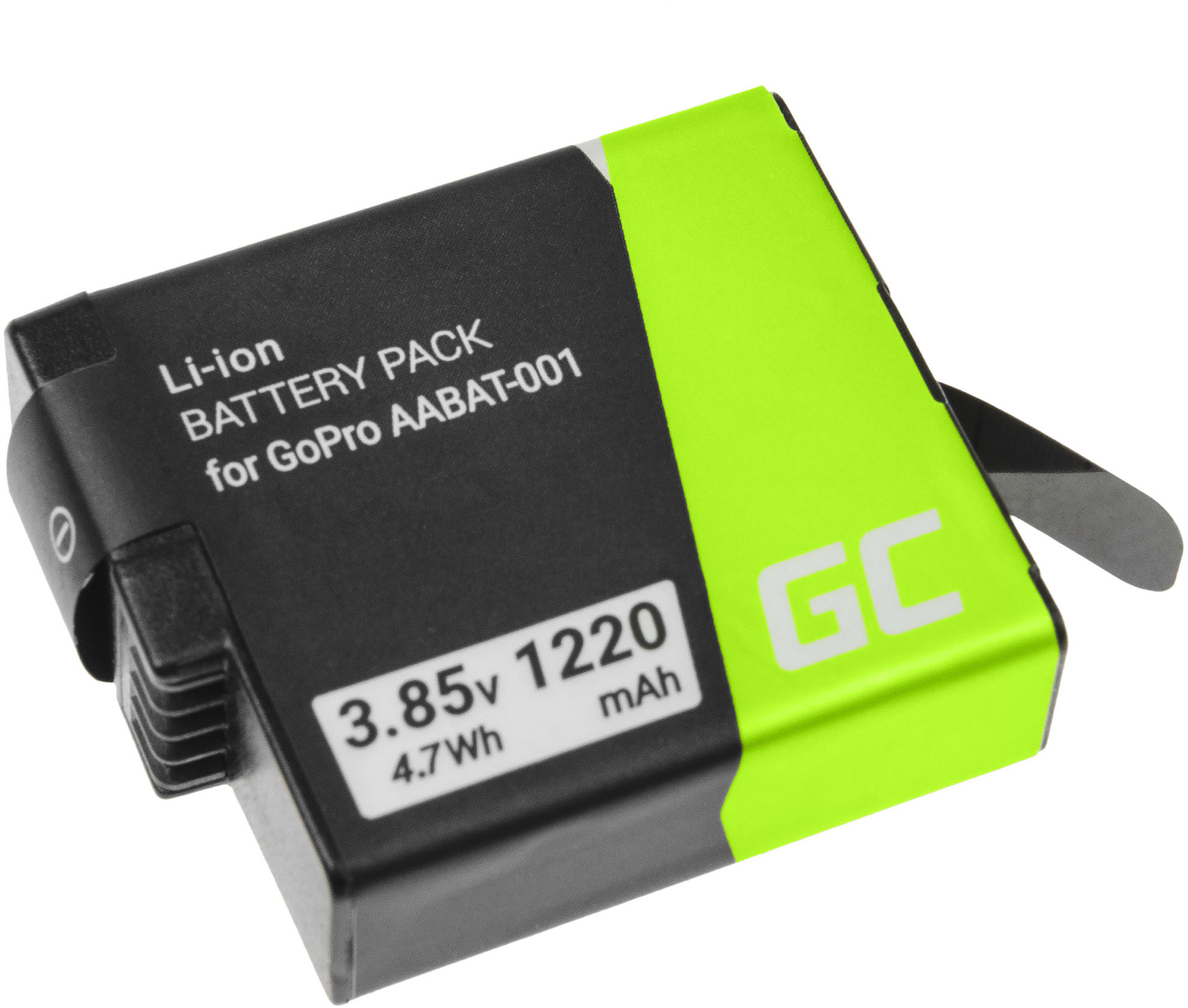 Akumulator Bateria Green Cell AABAT-001 AHDBT-501 AJBAT-001 do GoPro Hero 5 6 7 8 Black Silver White 3.85V 1220mAh