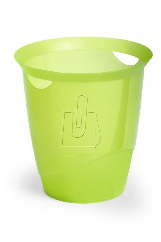 Kosz na śmieci DURABLE TREND transparentny jasnozielony /1701710017/