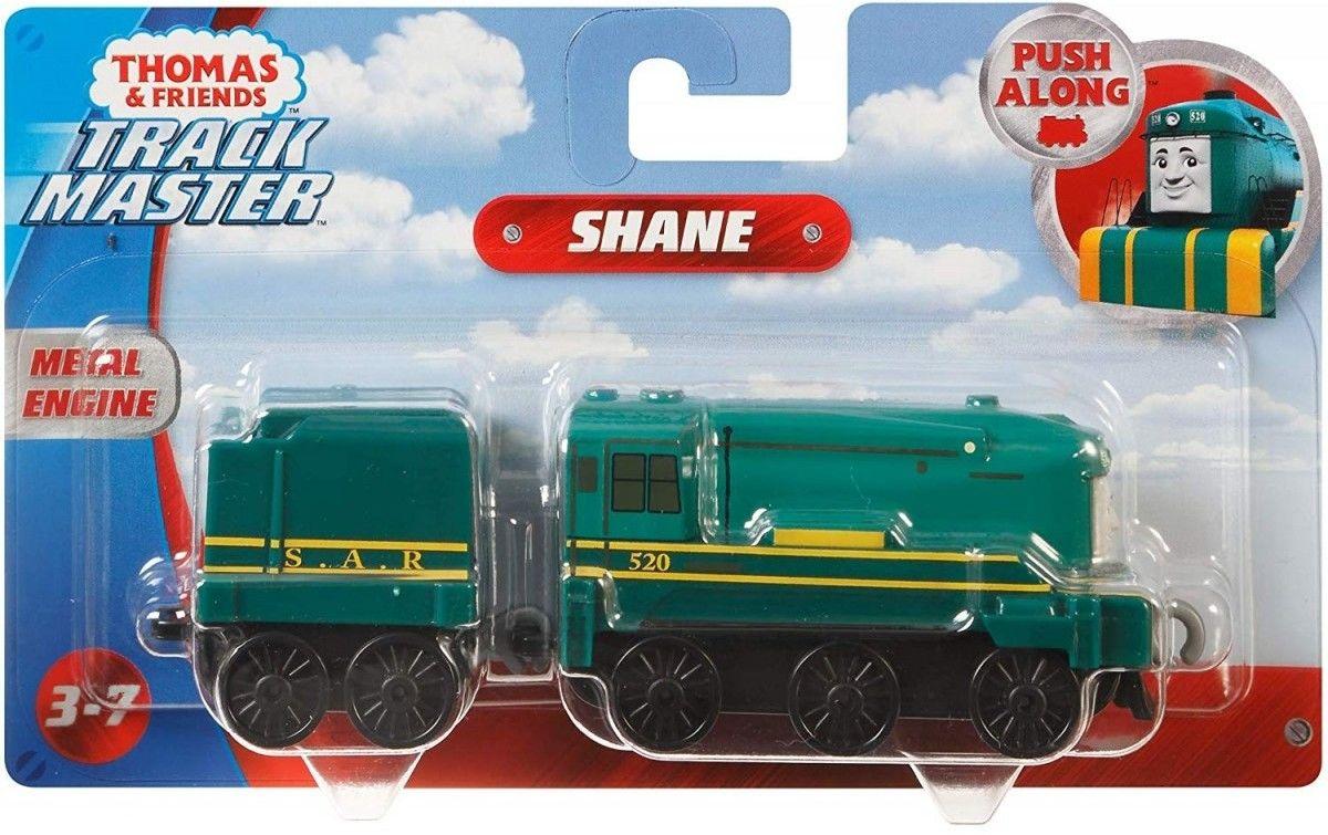 Fisher-Price - Track Master Shane lokomotywka z wagonikiem Popchnij i jedź FXX17