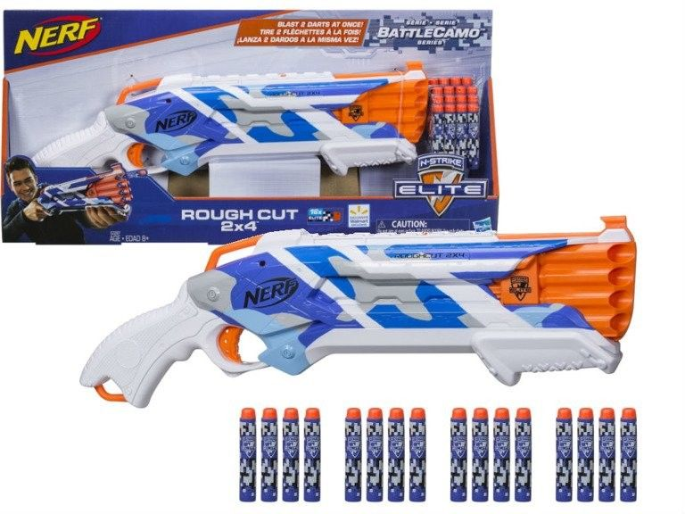 Hasbro Nerf N-Strike - Wyrzutnia Rough Cut Elite BattleCamo E2287