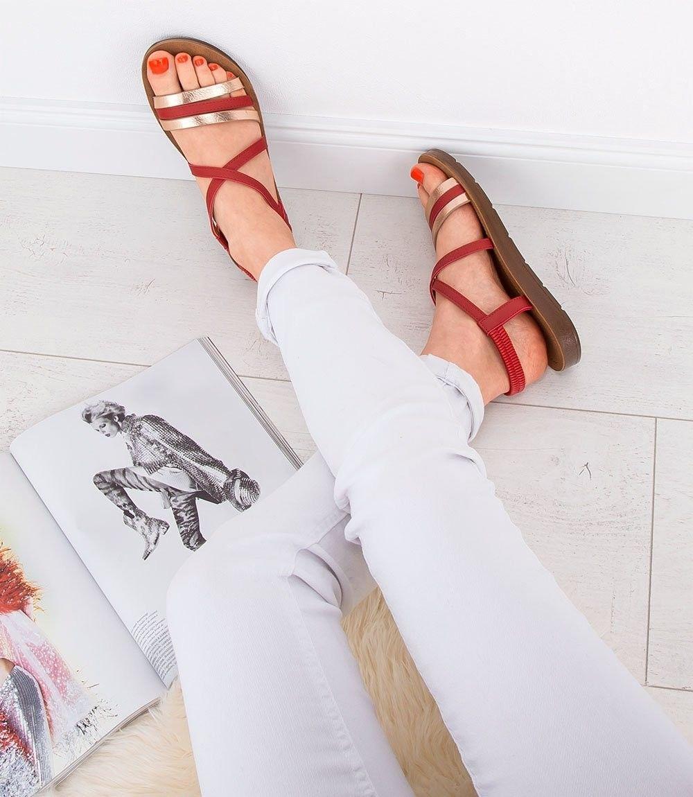 Sandałki damskie Super Mode 2220 Czerwone