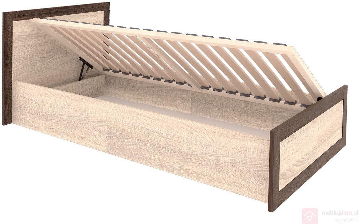 Łóżko BOSS BS-19/90 90x200 cm, Dąb sonoma + Dąb sonoma czekoladowy