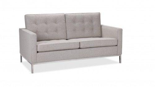 Sofa 2 FLORENCJA wełna - inspiracja proj. Florence Knoll