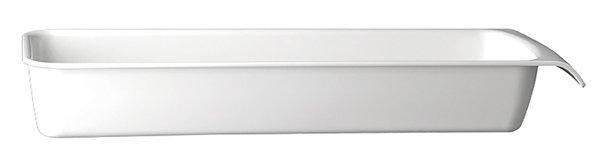 Miska prostokątna z melaminy GN 2/4 530x162x75mm biała