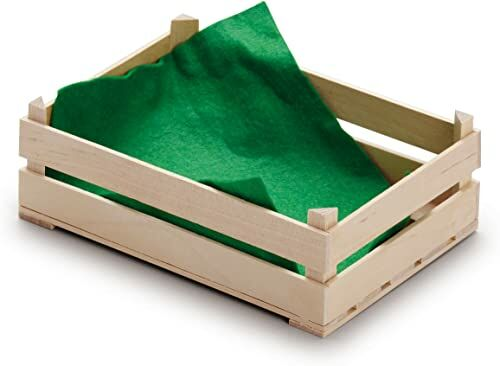 Drewniane jedzenie do zabawy - sklep spożywczy Pretend Play - duża skrzynka na owoce od Erzi