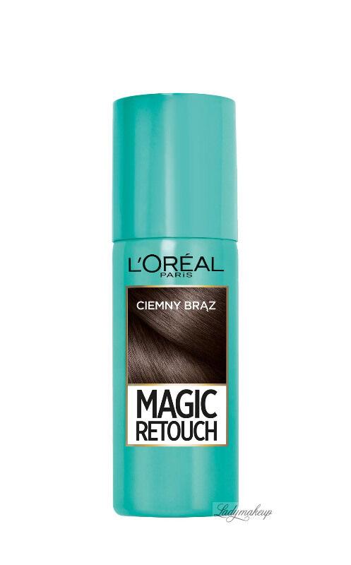 L''Oréal - MAGIC RETOUCH - Spray do błyskawicznego retuszu odrostów - CIEMNY BRĄZ