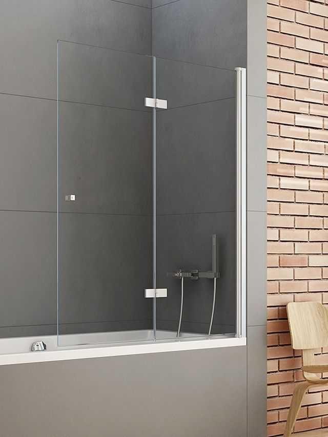 New Trendy parawan nawannowy New Soleo 120 cm prawy, wys. 140 cm, szkło czyste 6 mm P-0031