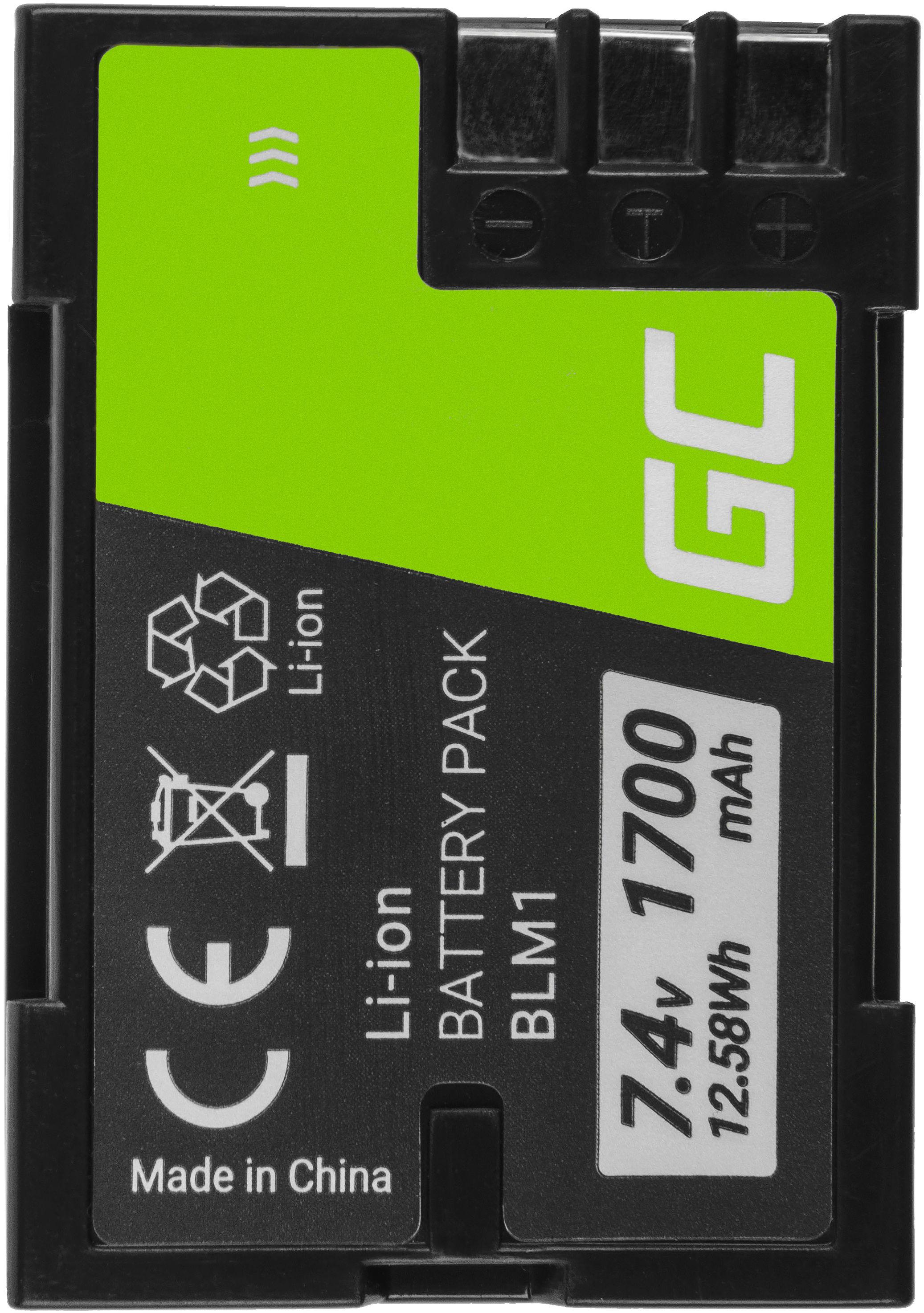 Akumulator Bateria Green Cell  BLM-1 do Olympus Evolt E-1 E-510 E-500 CAMEDIA C-5060 C-7070 C-8080 Wide Zoom, 7.4V 1700mAh