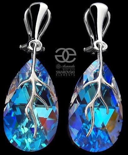 Kryształy ozdobne KLIPSY SREBRO BLUE AURORA