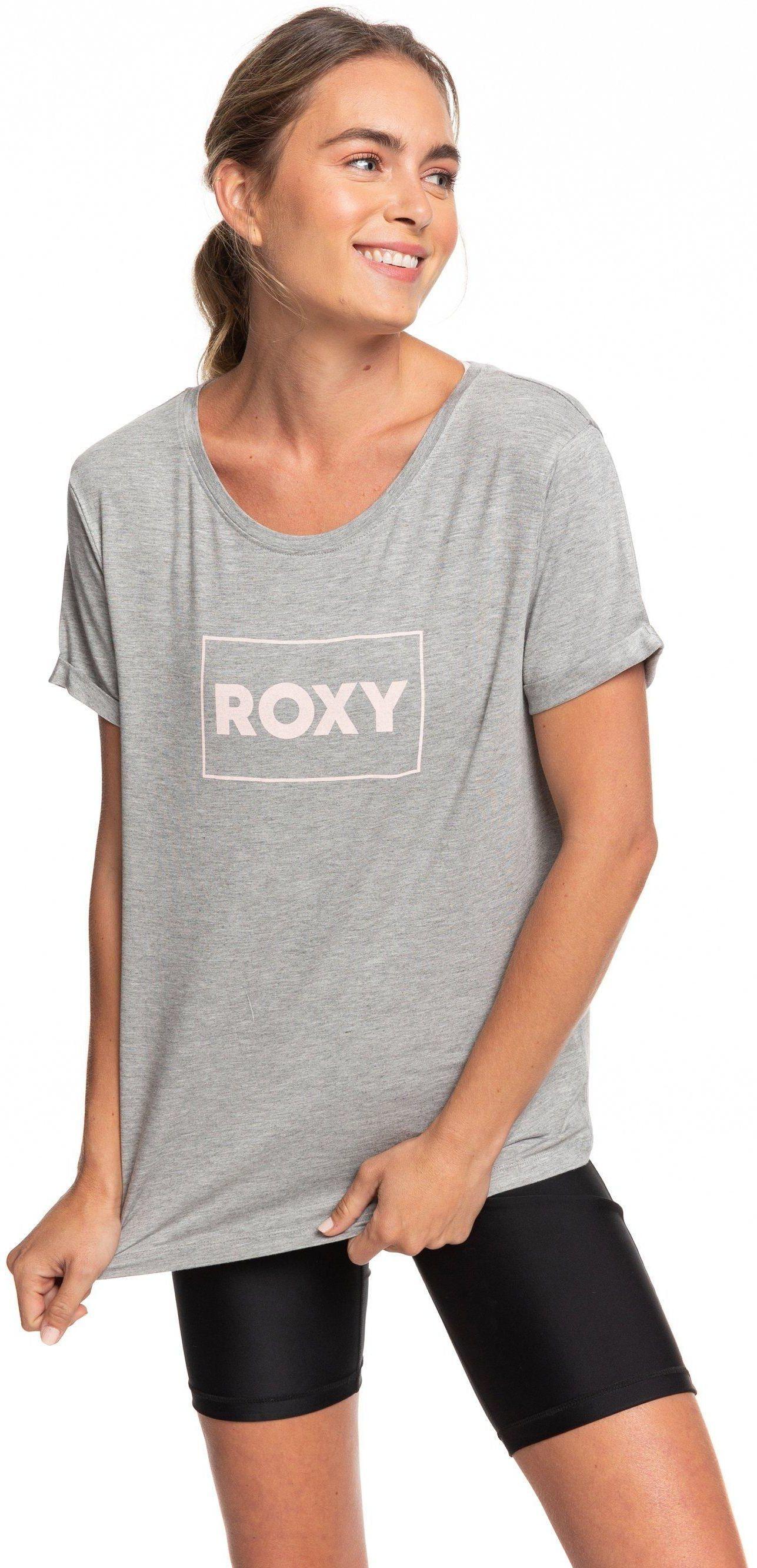 t-shirt damski ROXY SIMPLE LITTLE SONG TEE Heritage Heather - SGRH