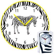 Zegar ścienny zebra + budzik gratis /Y