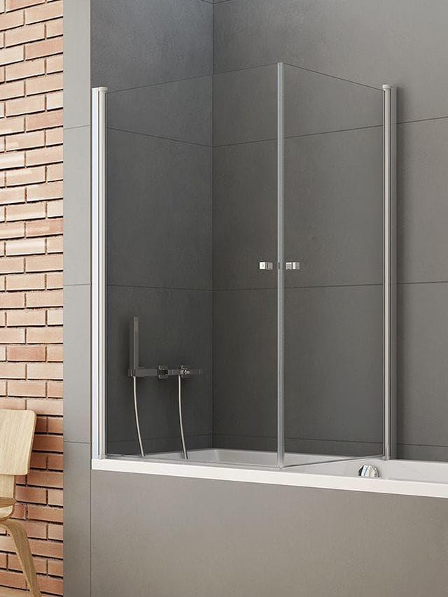 New Trendy parawan nawannowy New Soleo 90x70 cm, wys. 140 cm, szkło czyste 6 mm P-0025/P-0024