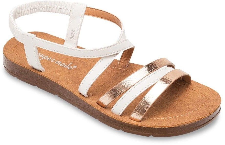 Sandałki damskie Super Mode 2220 Białe