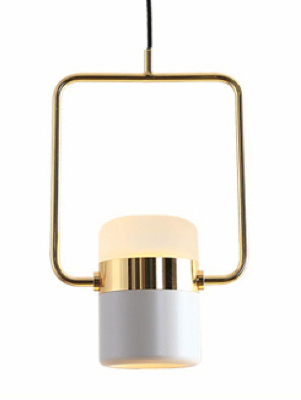 Flair White Gold - reflektor LED wiszący, dwustronny, złoto