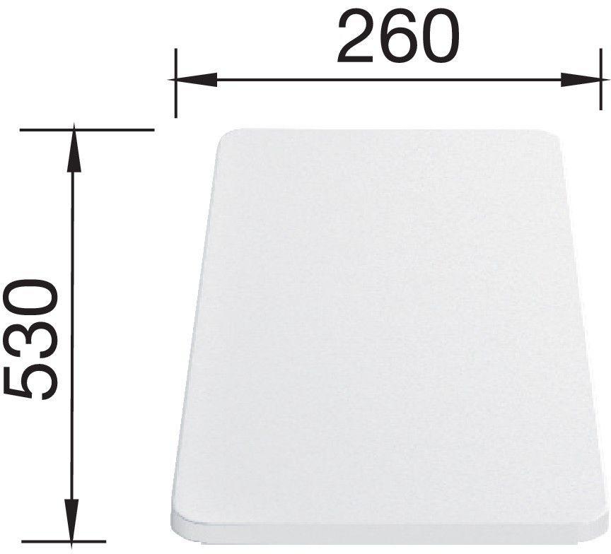 BLANCO Deska z tworzywa biała, 530x260, [MEDIAN, METRA, ZIA, LEXA, LANTOS] 217611 Płać mniej za zakupy u nas - (22)266 82 20 Zapraszamy :)