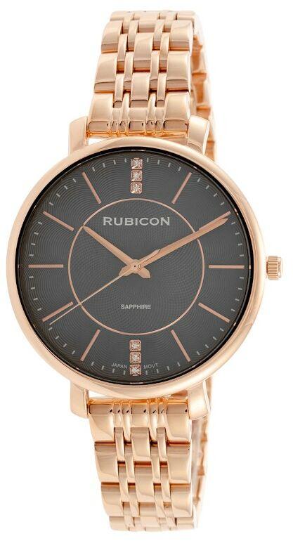 Zegarek RUBICON RNBE52 Różowe złoto/grafit