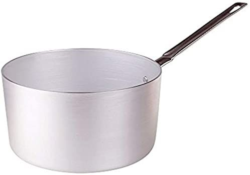 Pentole Agnelli PCMX0518 wysoki, aluminiowy rondel z uchwytem ze stali nierdzewnej, 2,6 litra, srebrny