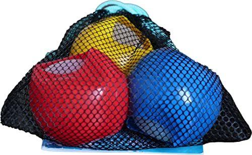 alldoro 63038 Water Splash zestaw 3 bomb wodnych Ø 6 cm, balony do wody wielokrotnego użytku i samozamykające, balony wodne do ogrodu i na plażę, dzieci od 3 lat i dorosłych, czerwony/niebieski/żółty