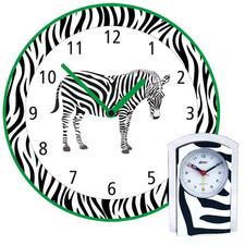 Zegar ścienny zebra + budzik gratis /G