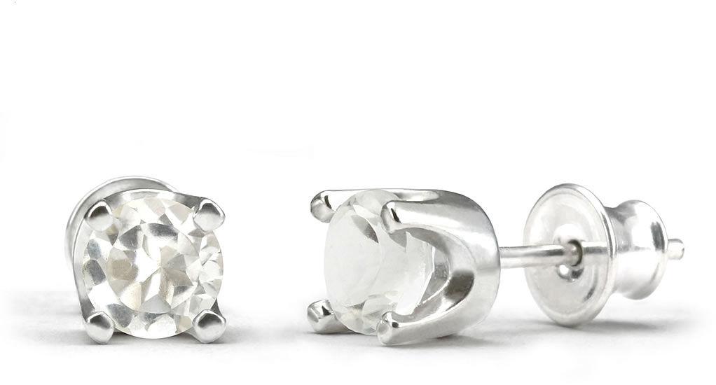 Kuźnia Srebra - Kolczyki srebrne sztyft, 15mm, Kryształ, 2g, model