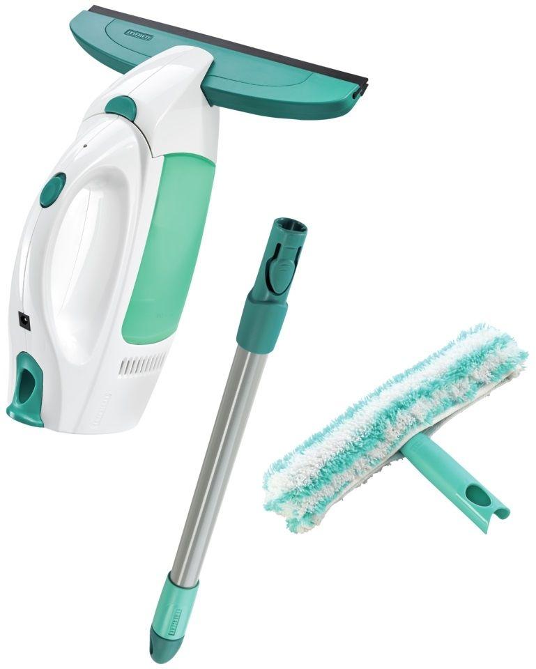 LEIFHEIT Zestaw: odkurzacz do szyb Dry & Clean z 43 cm rączką oraz dwustronny mop ręczny do szyb - CLICK System Leifheit 51003
