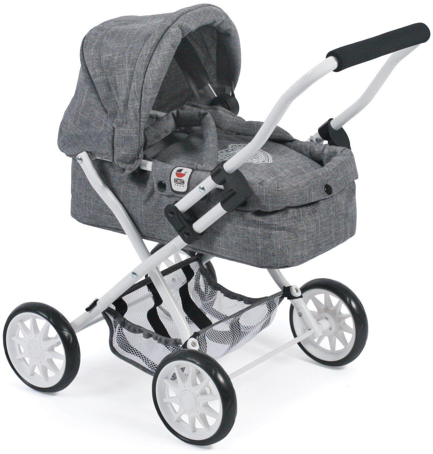 Bayer Chic 2000 555 76 wózek do przytulania Smarty, dżinsy szary