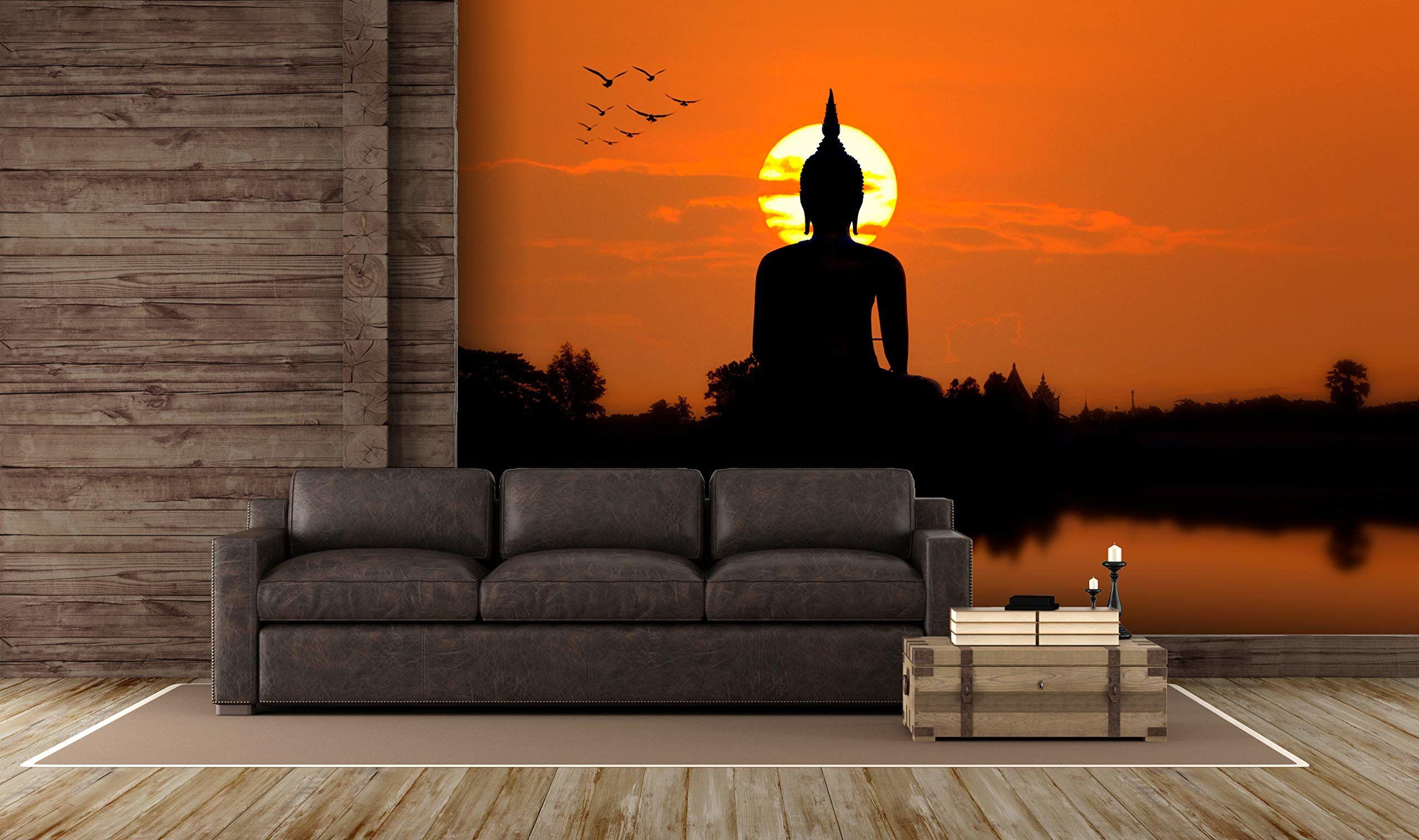 Oedim zdjęcie naklejka ścienna dla Buddy w zachodzie słońca Fototapeta na ściany mural ścienny Dekoracyjny winyl Różne wymiary 500 x 300 cm jadalnia, pokoje dzienne, pokoje