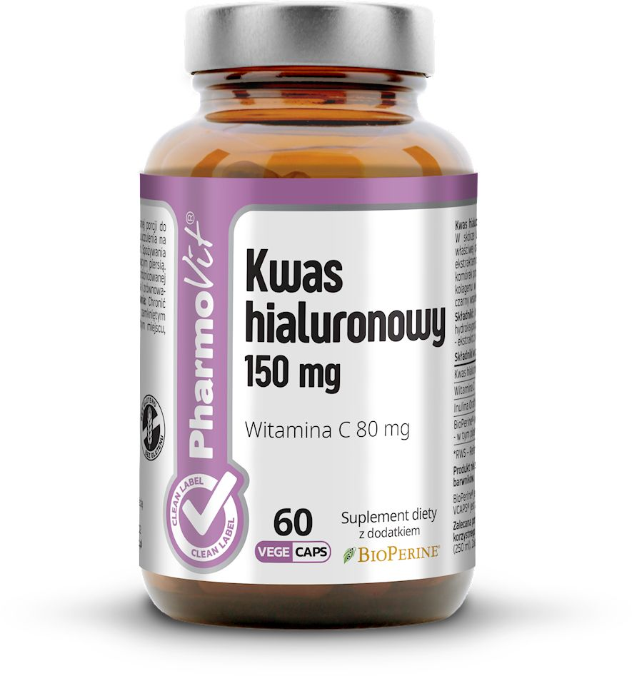Kwas hialuronowy 60 kapsułek 33,78 g - pharmovit (clean label)