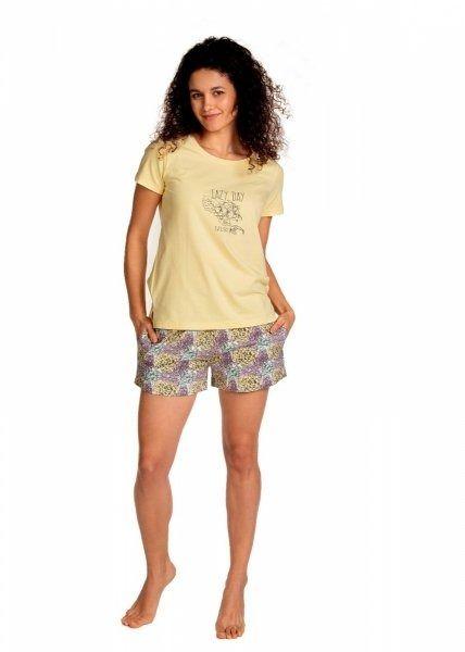Piżama damska lama 1397 py żółta