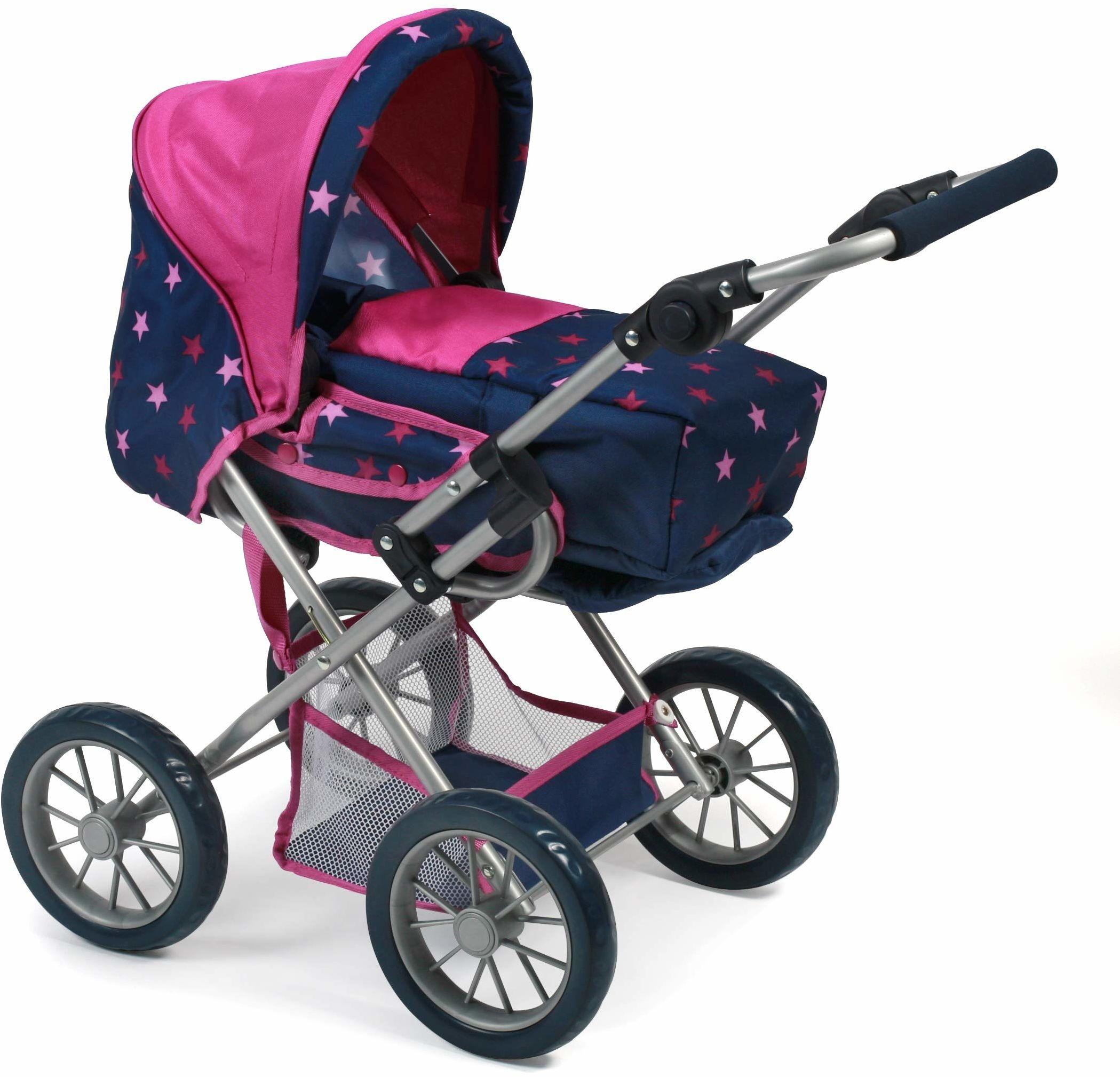 Bayer Chic 2000 560 72 wózek dla lalek kombi Leni, Stars Navy