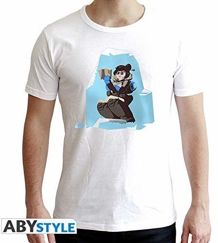 """Abystyle  Overwatch  T-shirt """"Mei""""  męski  biały (XS)"""