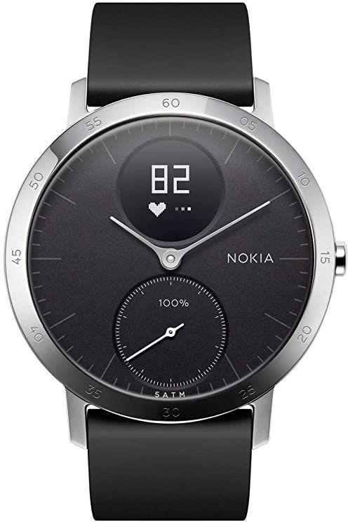 Withings Unisex Smartwatch Zegarek Fitness do Monitorowania Aktywności Fizycznej Steel HR, Czarny, 40 mm, HWA03 Black 40mm