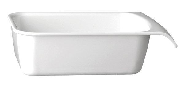 Miska prostokątna z melaminy biała różne wymiary