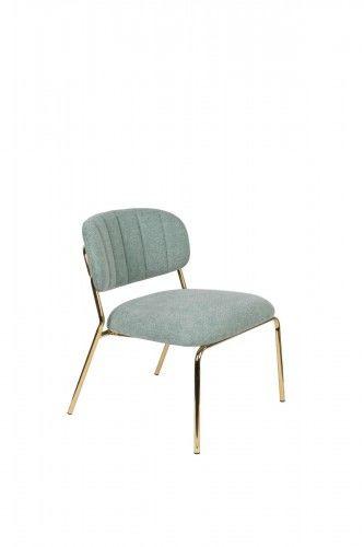 Fotel Jolien złoty/ jasno zielony