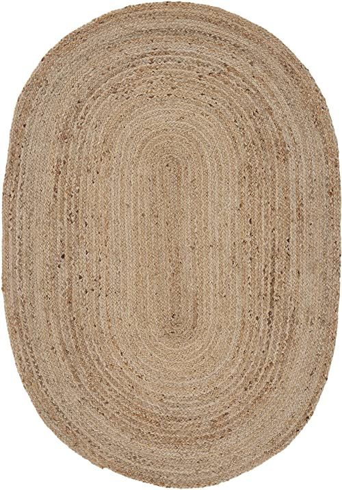 carpetfine Dywan z juty, 100% juta, beżowy, 70 x 140 cm