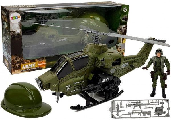 Zestaw Wojskowy Helikopter Hełm Żołnierz