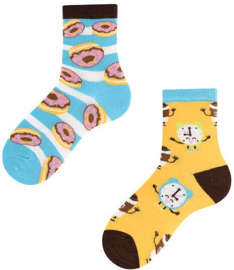 Donut Heaven Kids, Todo Socks, Kawa, Pączki, Kolorowe Skarpetki Dziecięce